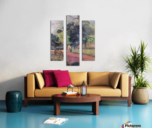 Landscape by Gauguin Canvas print