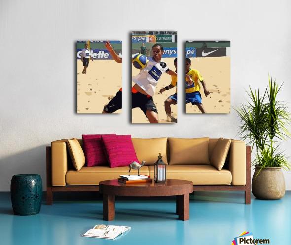 Beach football_05 Canvas print