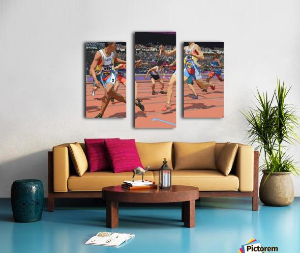 Athletics_04 Canvas print