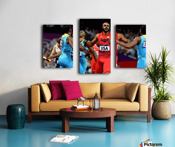 Athletics_33 Canvas print