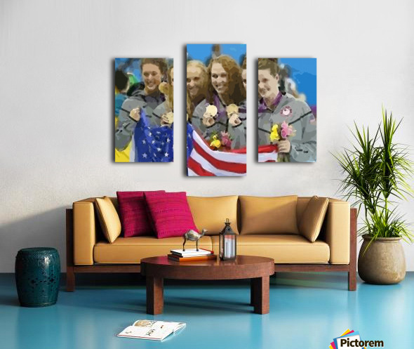 Athletics_48 Canvas print