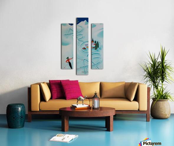 Original vintage poster ski Arosa Suisse Canvas print