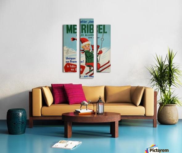 Original vintage poster ski winter sport Meribel Canvas print