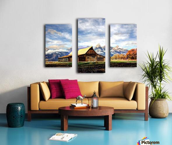 Mormon Row   Jackson Hole Canvas print
