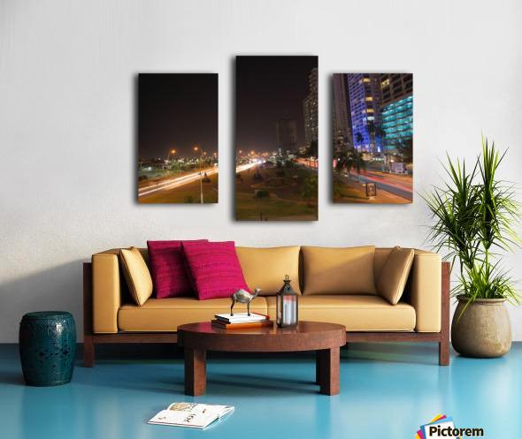 Cinta Costera Long Exposure  Canvas print
