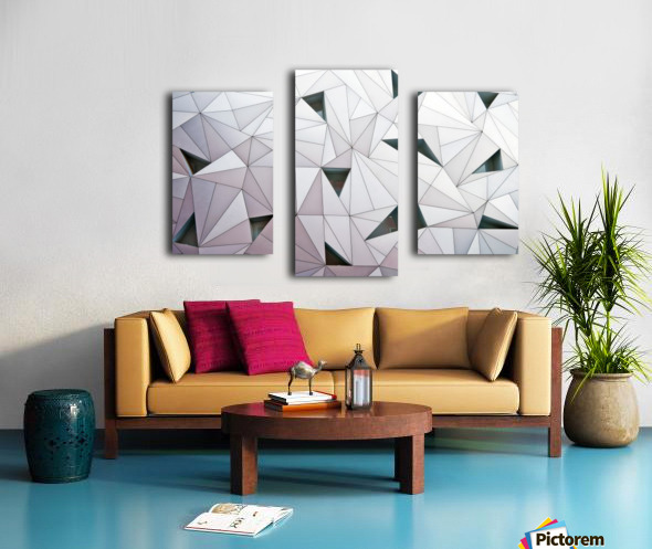 triangulation 1 Canvas print