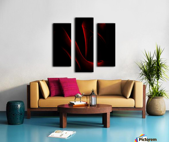 Shoe in Red Canvas print