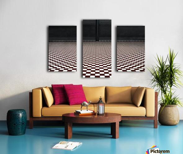 the hypnotic floor Impression sur toile