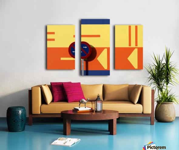 B Canvas print