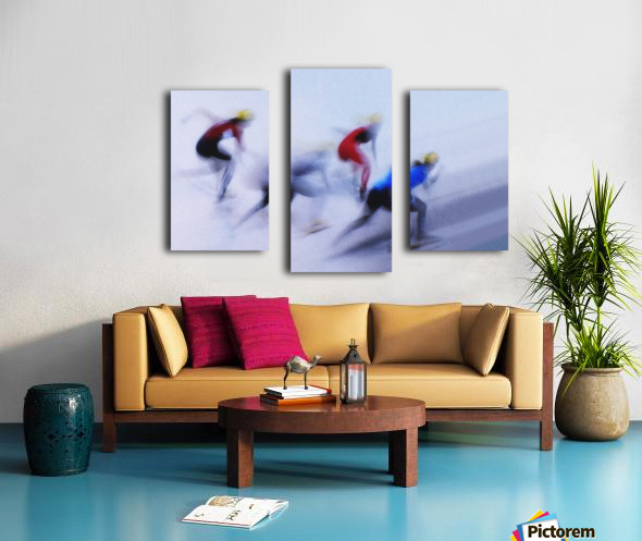 Speed Skating 1 Canvas print