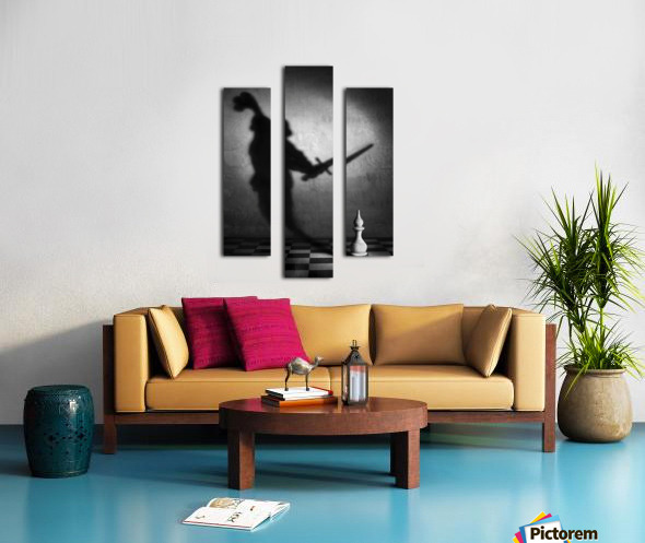 The heart of a knight Canvas print