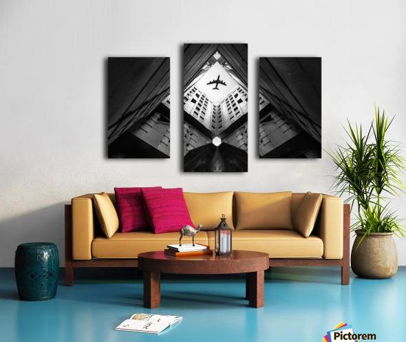 Plane city Canvas print