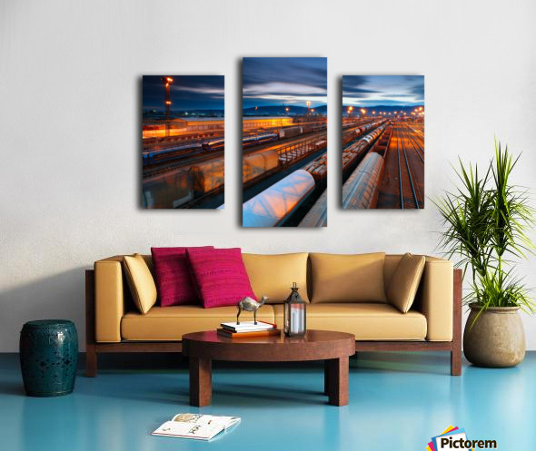 Freight station Canvas print
