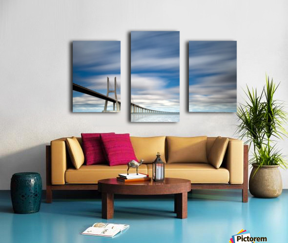 in BLUE Canvas print