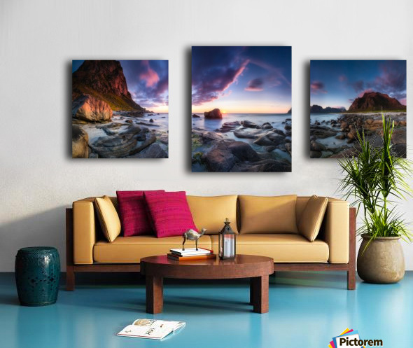 Utakleiv sunset Canvas print