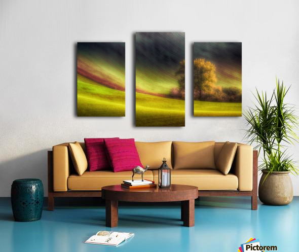 Moravian fields Canvas print