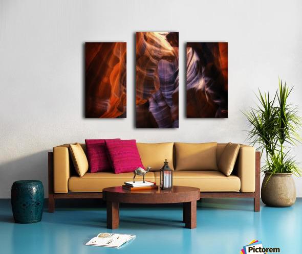 Light Up Above Canvas print