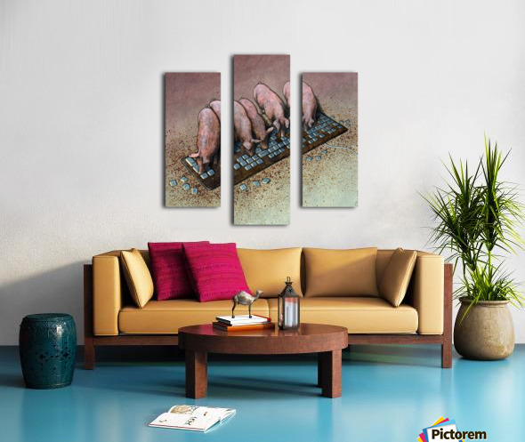 Haters Canvas print