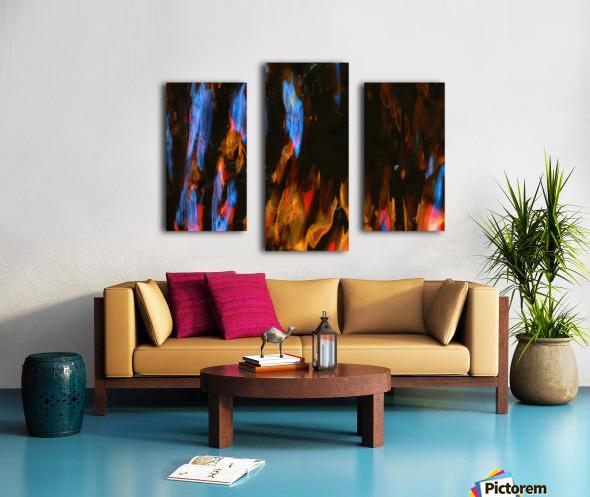 Blue Procession Canvas print