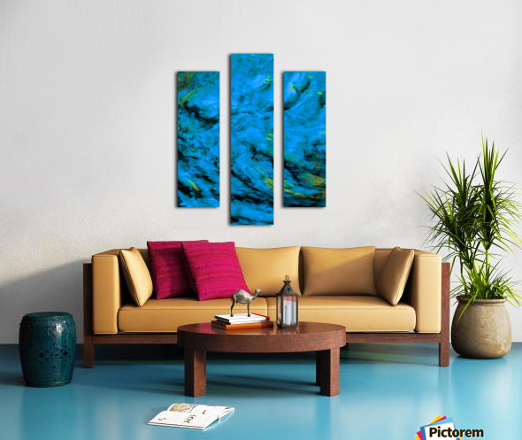 Blue Pyre Canvas print