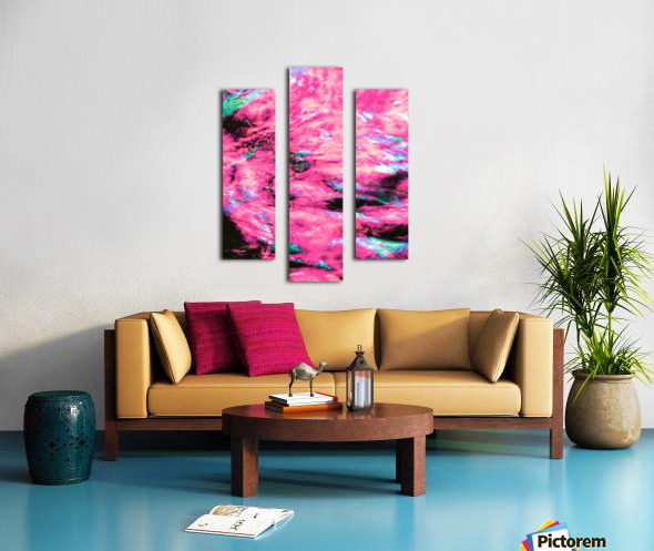The Flock Pink Canvas print