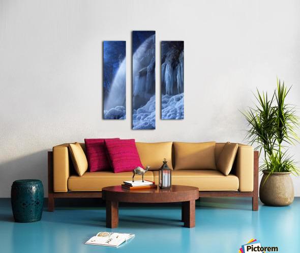 Frozen in the moonlight Canvas print