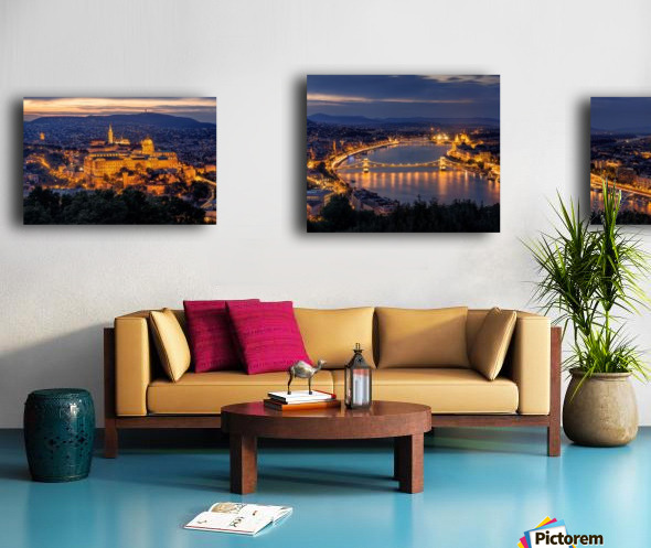 Panorama of Budapest Canvas print