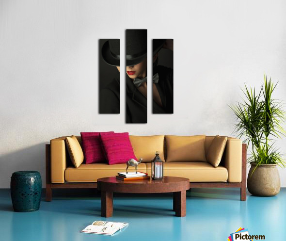 Mystery under the topper Canvas print