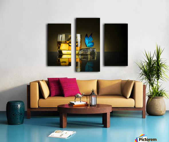 Butterfly Drink Canvas print