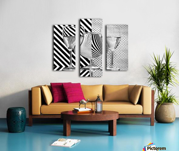 Dots and stripes Canvas print