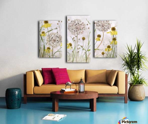 Alliums and heleniums Canvas print