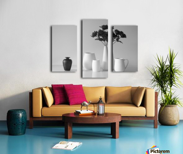 Still Life in Black and White Canvas print