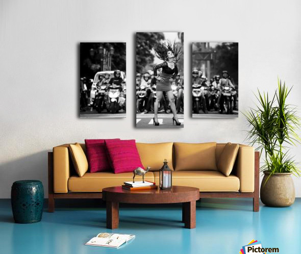 ignore it, enjoy poses on the streets Canvas print