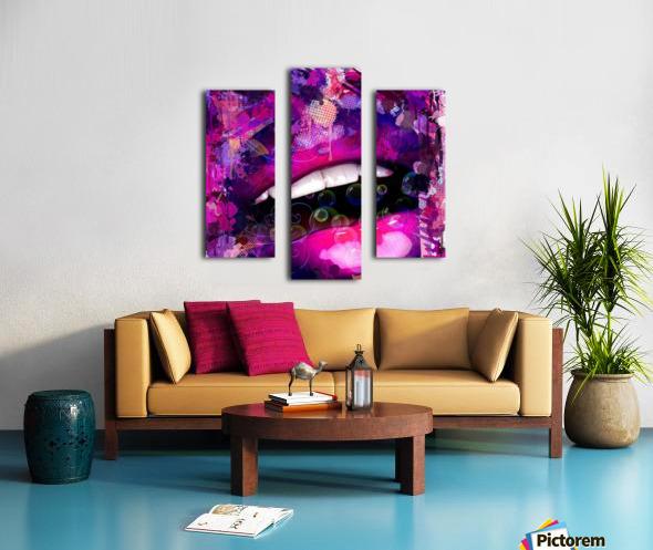 bouche love Canvas print