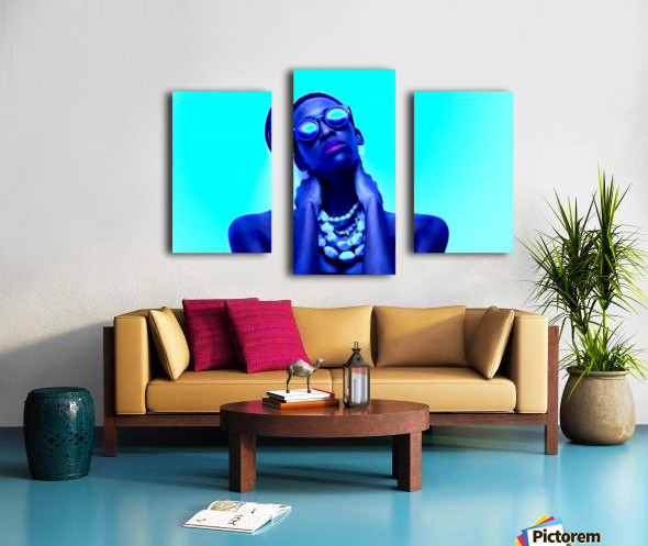 Blue Black Canvas print