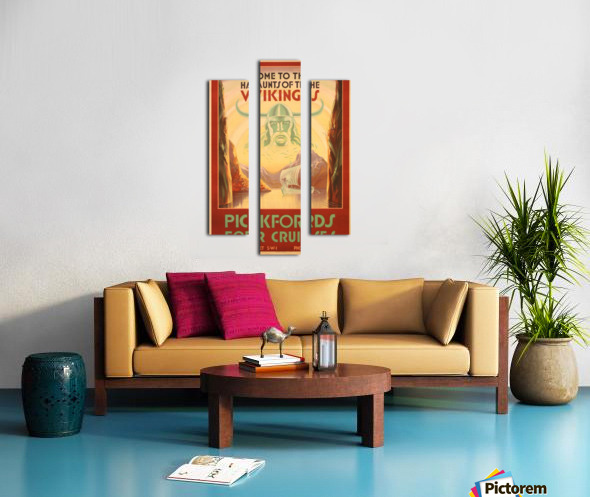 Cruise Ship Art Deco travel poster Canvas print
