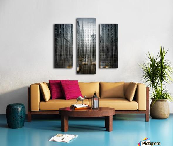 Graphic Art NYC 5th Avenue Traffic V Canvas print