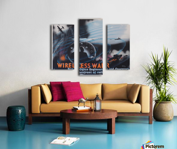 Wireless war Canvas print