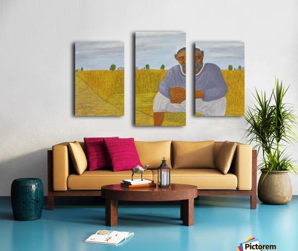The wheat farmer Canvas print
