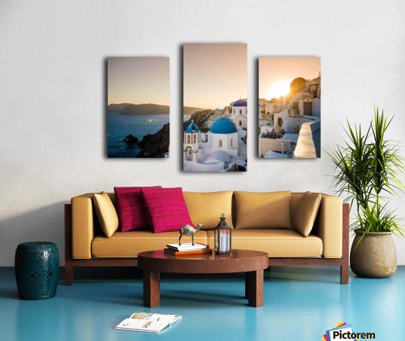 Coastal Oia Canvas print
