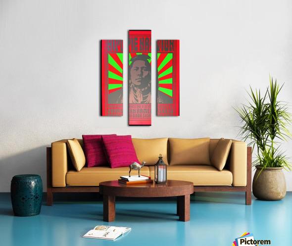 John Van Hamersveld Poster Hippie Nation Canvas print