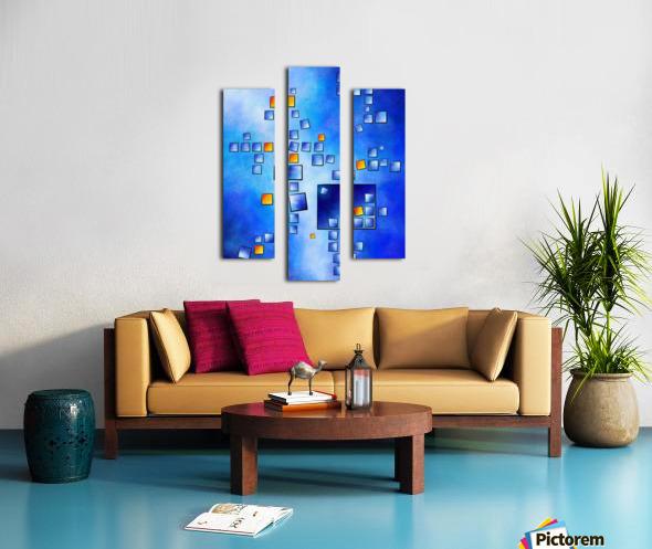 Cublerossia V1 - falling cubes Canvas print