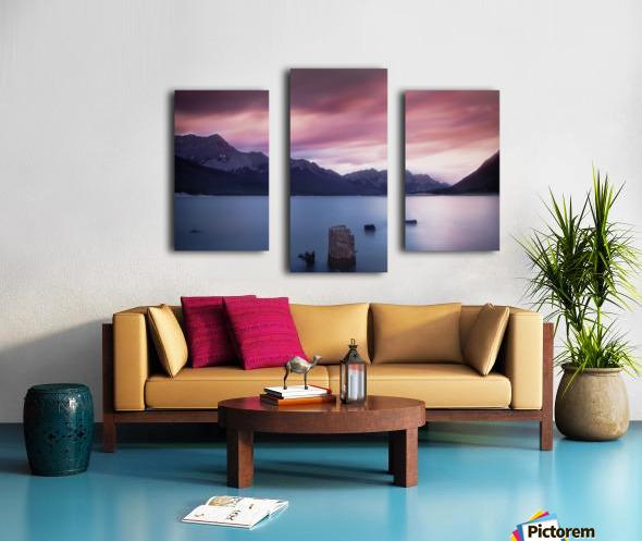 Spray Lake Sunset Canvas print