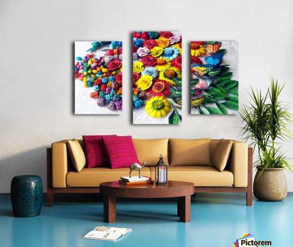 Collection of Decor Items Canvas print