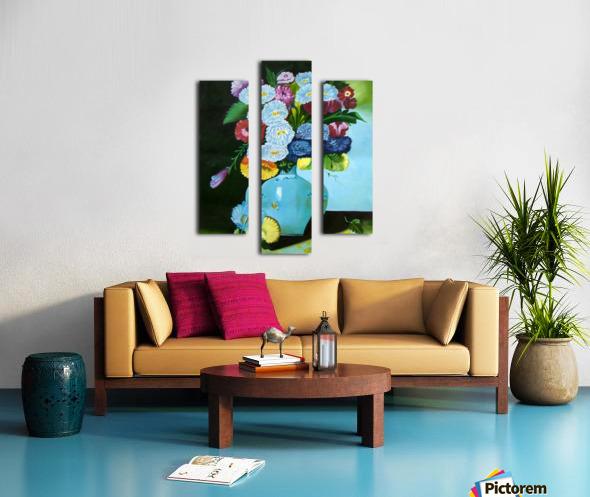 Floral Galaxy Canvas print