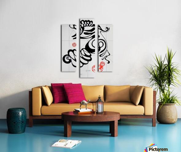 Qi air Canvas print