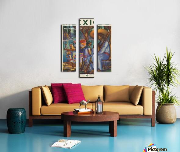 Mexico Xochimilco vintage poster Canvas print