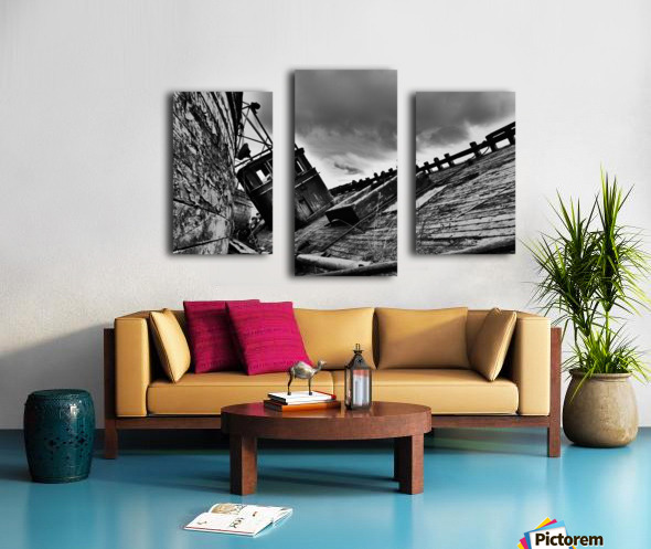 Angled wreck Canvas print
