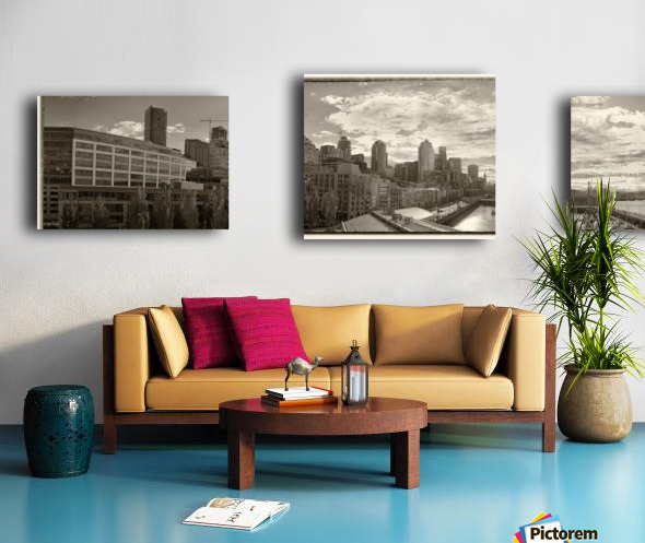 Panoramic Seattle Water Vista Canvas print