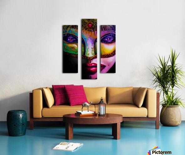 beneath the mask Canvas print